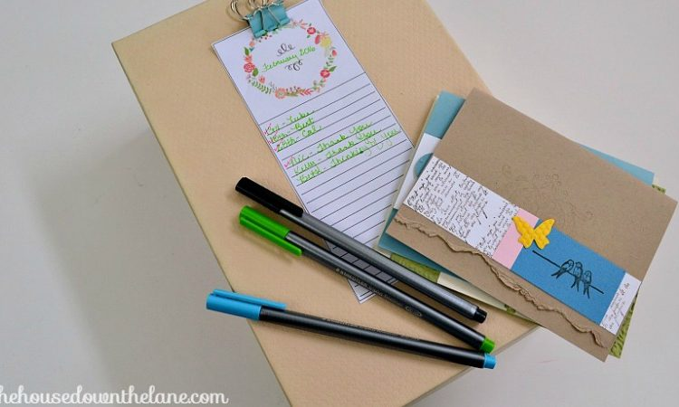 Learn how to make a DIY Greeting Card Organizer and why handwriting letters is so important on www.sweetteaandsavinggraceblog.com