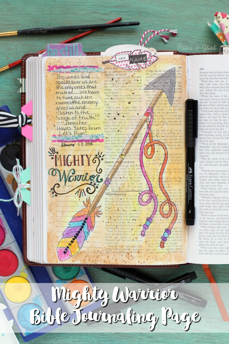 Mighty Warrior Bible Journaling Page STSG