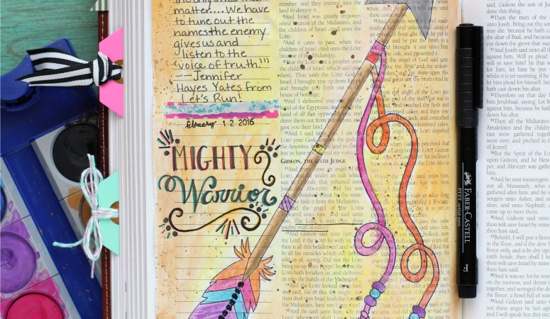 Mighty Warrior Bible Journaling Page