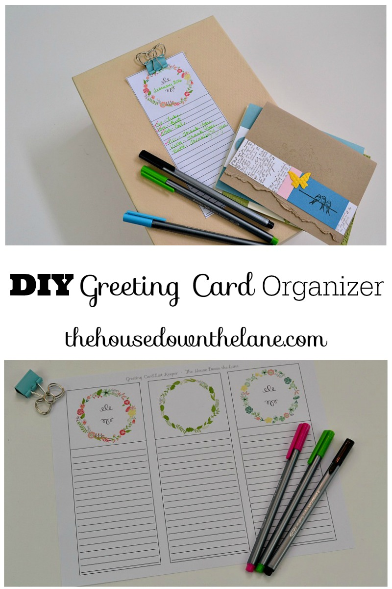 Diy greeting card organizer sweet tea saving grace learn how to make a diy greeting card organizer and why handwriting letters is so important m4hsunfo