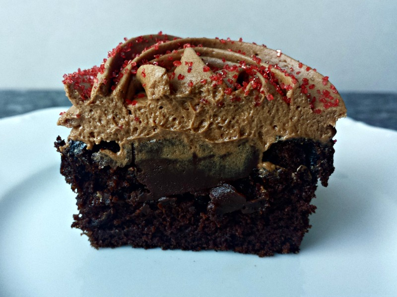 Chocolate Rum Truffle Cupcakes
