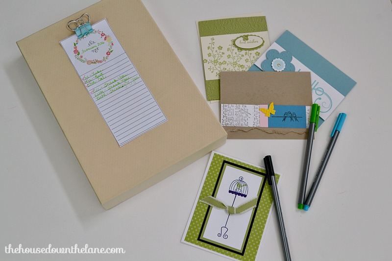 Learn how to make a DIY Greeting Card Organizer and why handwriting letters is so important! | The House Down the Lane for Sweet Tea and Saving Grace