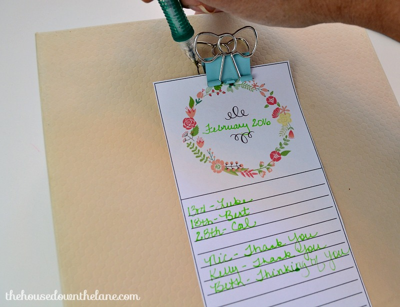 Learn how to make a DIY Greeting Card Organizer and why handwriting letters is so important! | The House Down the Lane