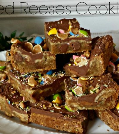 Loaded Reeses Cookie Bars