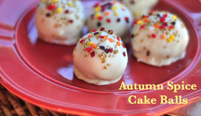 autumn spice cake balls