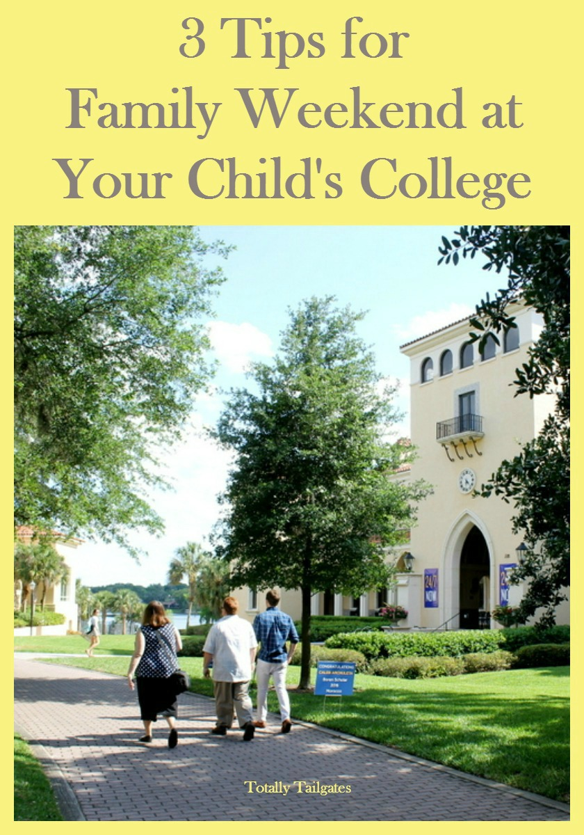3 Tips for Family Weekend at Your Child's College!