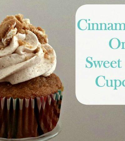 Cinnamon Bun Oreo Sweet Potato Cupcakes