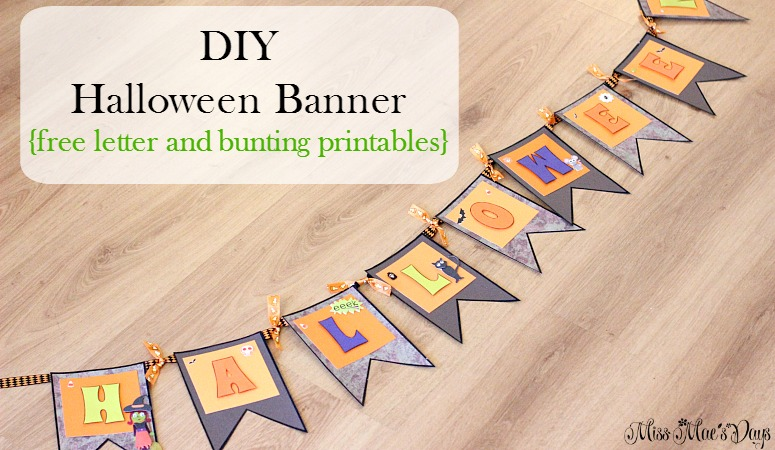 diy-halloween-banner-with FREE letters and bunting printables