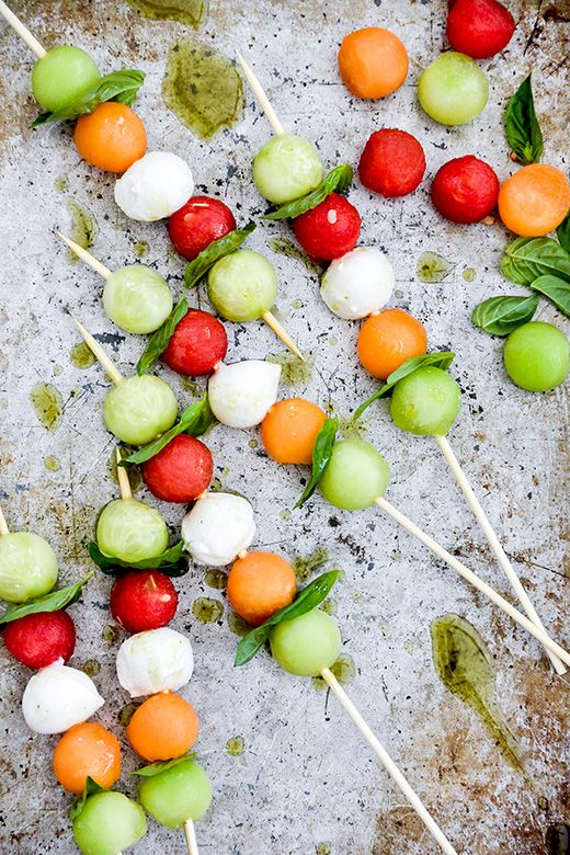 melon-caprese-skewers-with-herb-oil