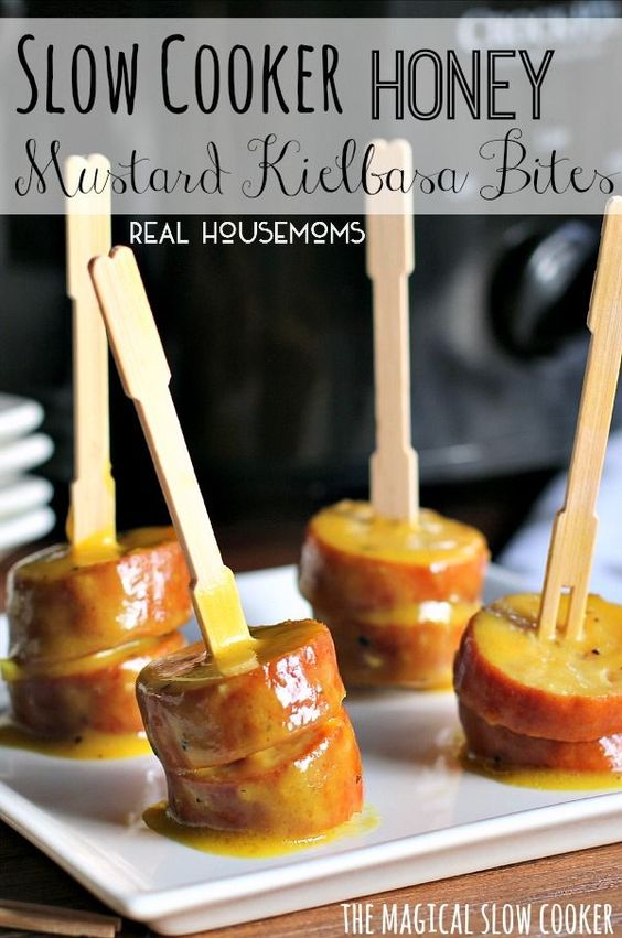 slow-cooker-honey-mustard-kielbasa-bites