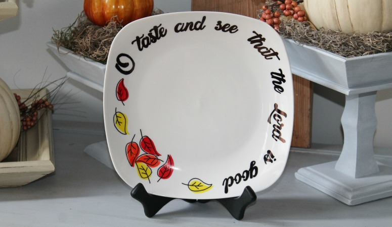 How to Create a Thanksgiving Scripture Plate