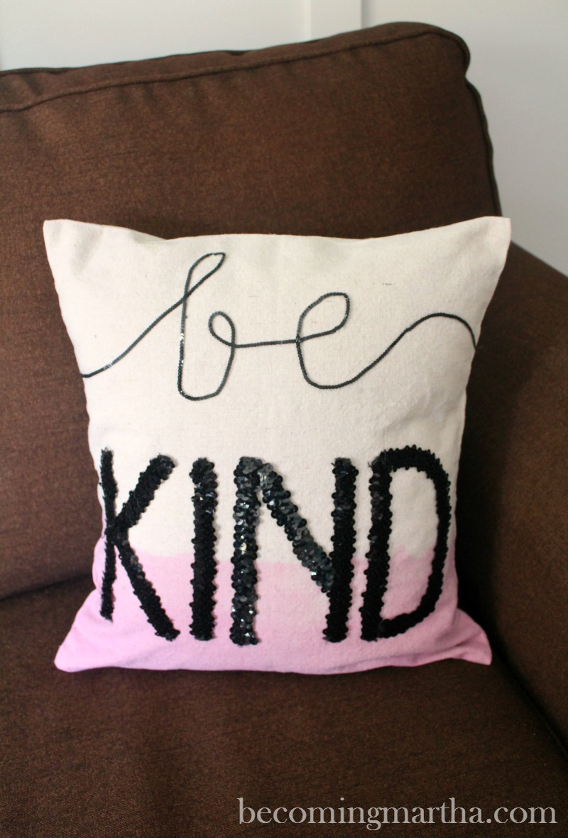 This dropcloth pillow is a perfect craft for the creative teen (or even tween) in your family. It's simple, easy to personalize, and a lot of fun to make!