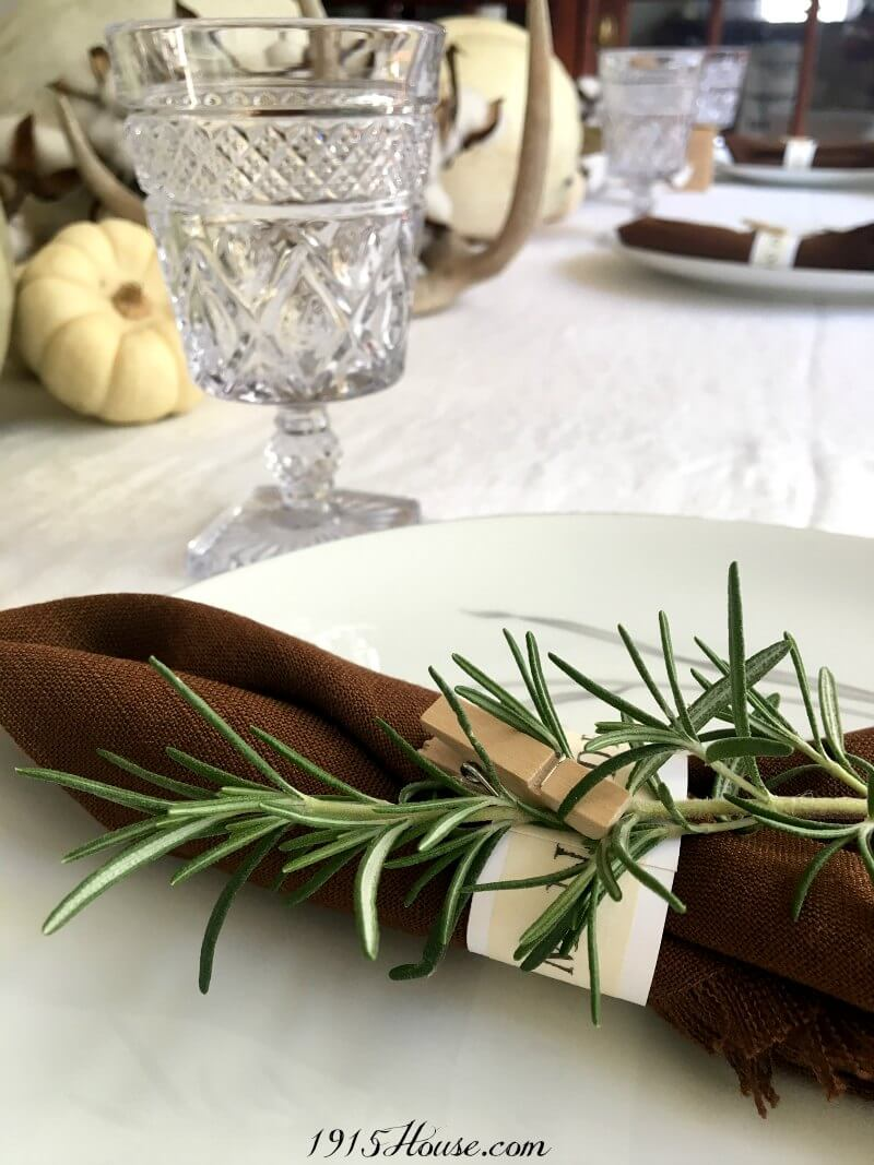 Easy Paper Napkin Ring With Rosemary Sweet Tea Saving Grace