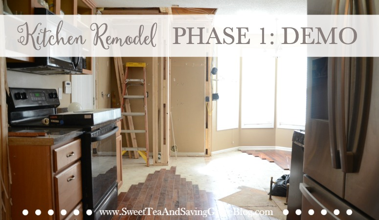 Our kitchen is getting remodeled, but before the contractor can make it beautiful, it has be get messy. The demo has begun!