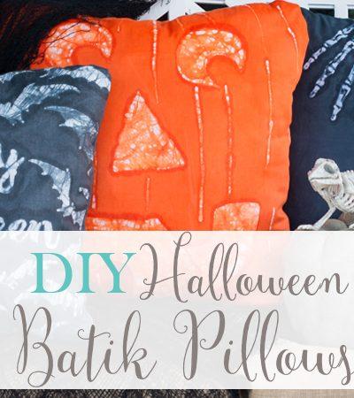 DIY Halloween Batik Pillows