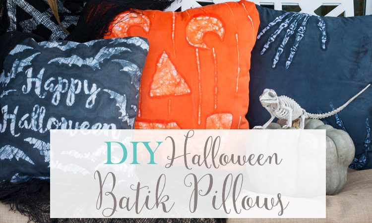 DIY Halloween Batik Pillows