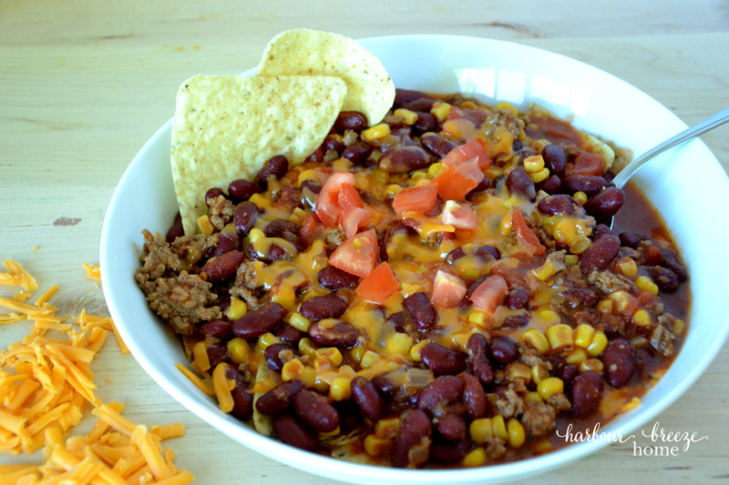 Fiesta Taco Soup ~ An easy weeknight meal solution filled with flavour and topped with fun!