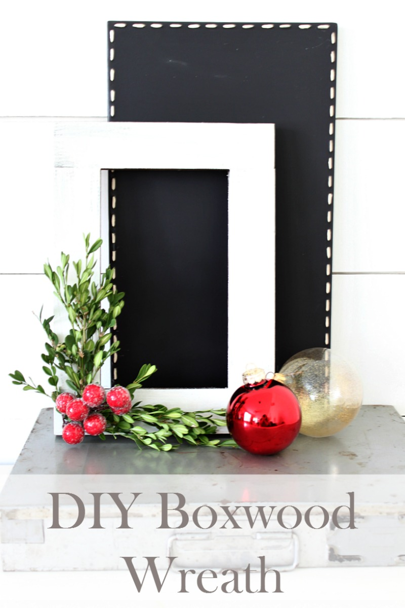 craft-your-own-version-of-a-boxwood-wreath-with-an-old-frame-some-boxwood-clippings-and-a-few-faux-berries-a-quick-and-easy-christmas-project-you-can-complete-in-an-afternoon