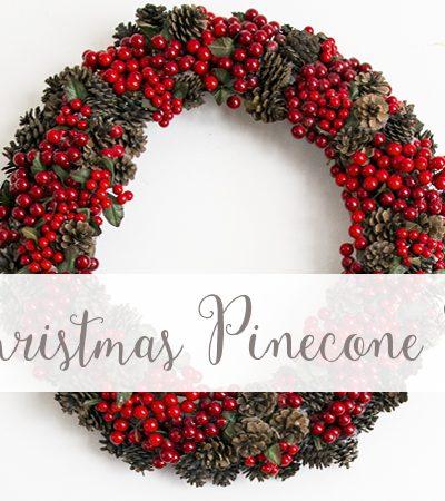Christmas Pinecone Wreath