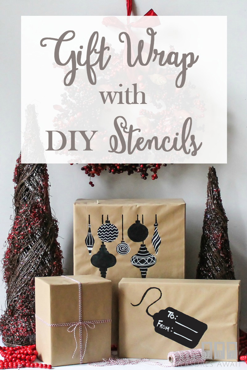 This DIY stenciled wrapping paper is so cute! Easily create your own stencils with stencil blanks!