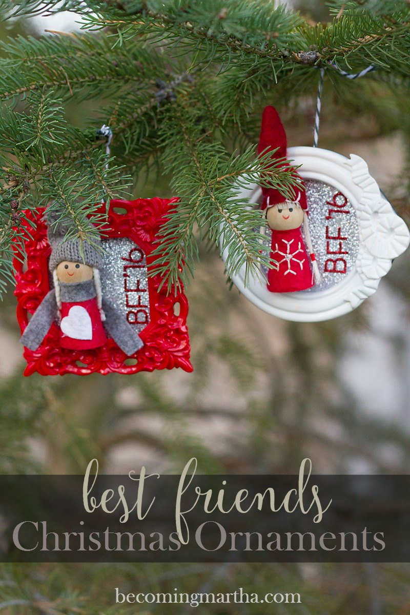 Best Friend Photo Frame Ornaments | Sweet Tea & Saving Grace