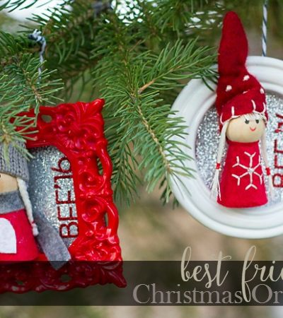 Best Friend Photo Frame Ornaments