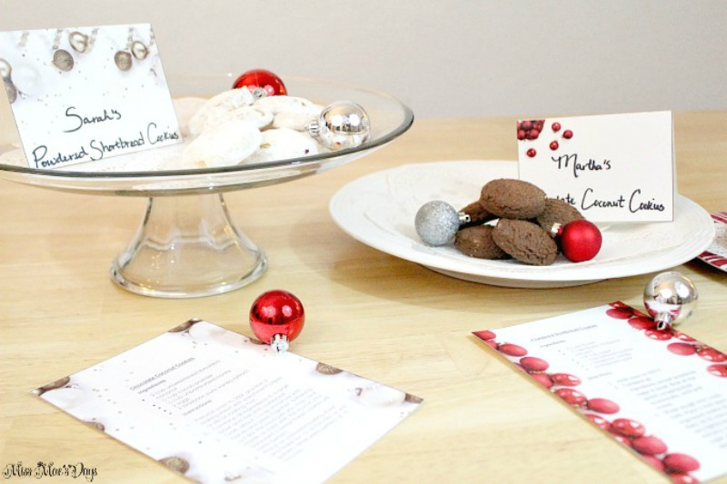 How to Plan a Holiday Cookie Exchange Party with FREE label and recipe printables
