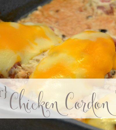 Cheater Chicken Cordon Bleu