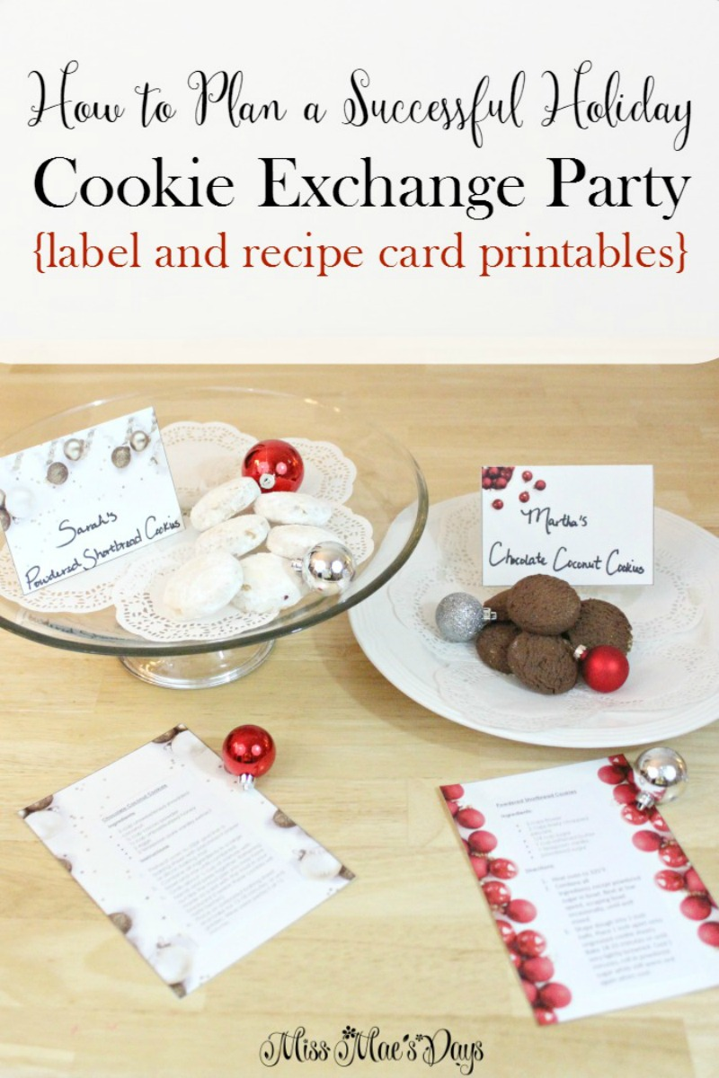How to Plan a Successful Cookie Exchange Party with free label and recipe printables