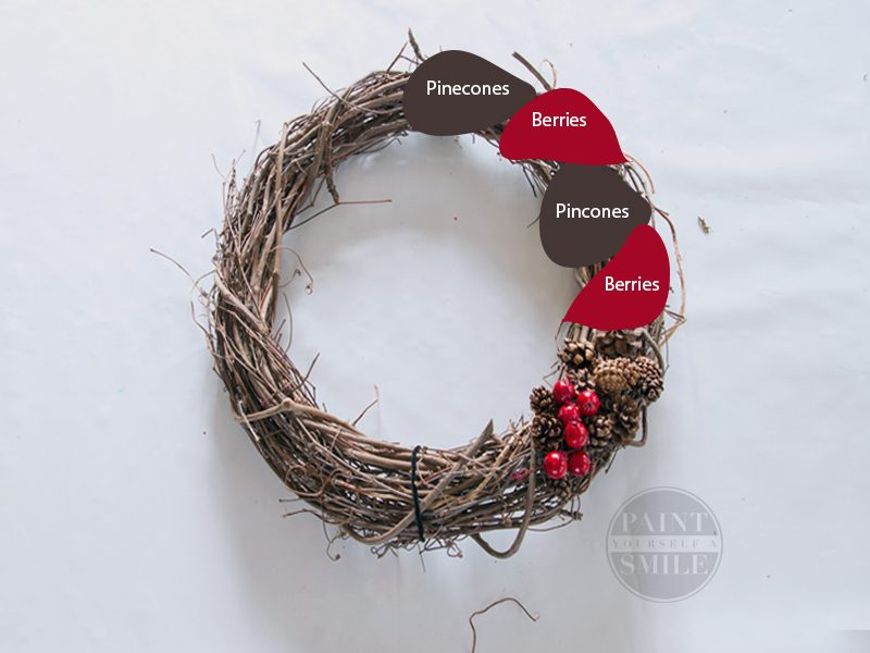 DIY Christmas Wreath that is easy to make and is a stunning addition to any Christmas Décor.