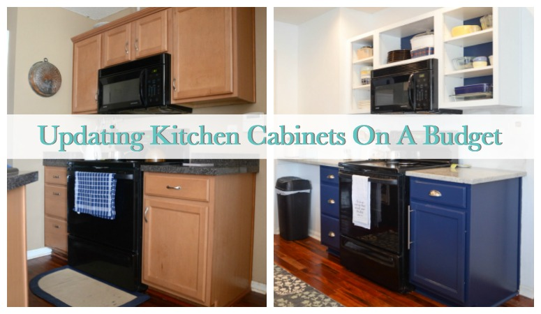 How to Update Kitchen Cabinets on a Budget | Sweet Tea & Saving Grace