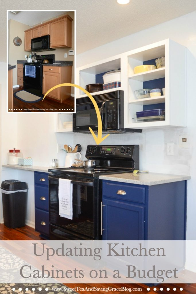 You can drastically update your existing kitchen cabinets on a budget, with just a few small changes and some manual labor. Here's how!