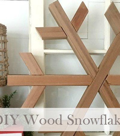 DIY Wood Snowflake