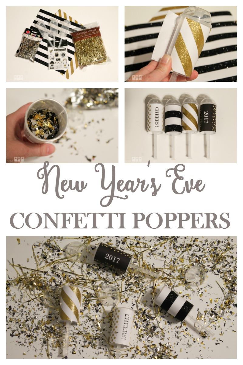 Celebrate the New Year with these easy DIY confetti poppers!