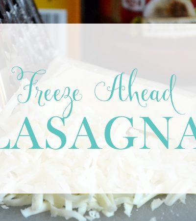 Freeze Ahead Lasagna