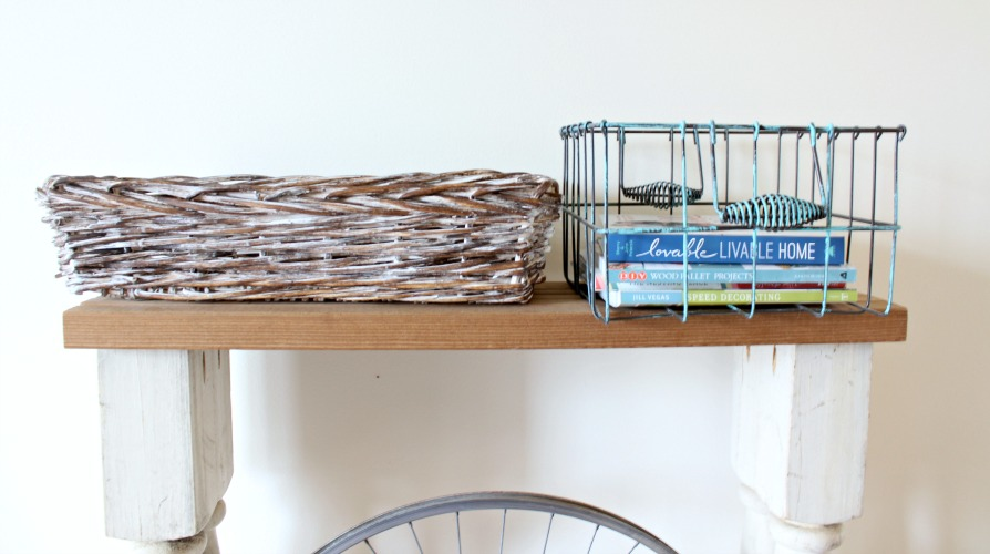 farmhouse style decor, storage baskets
