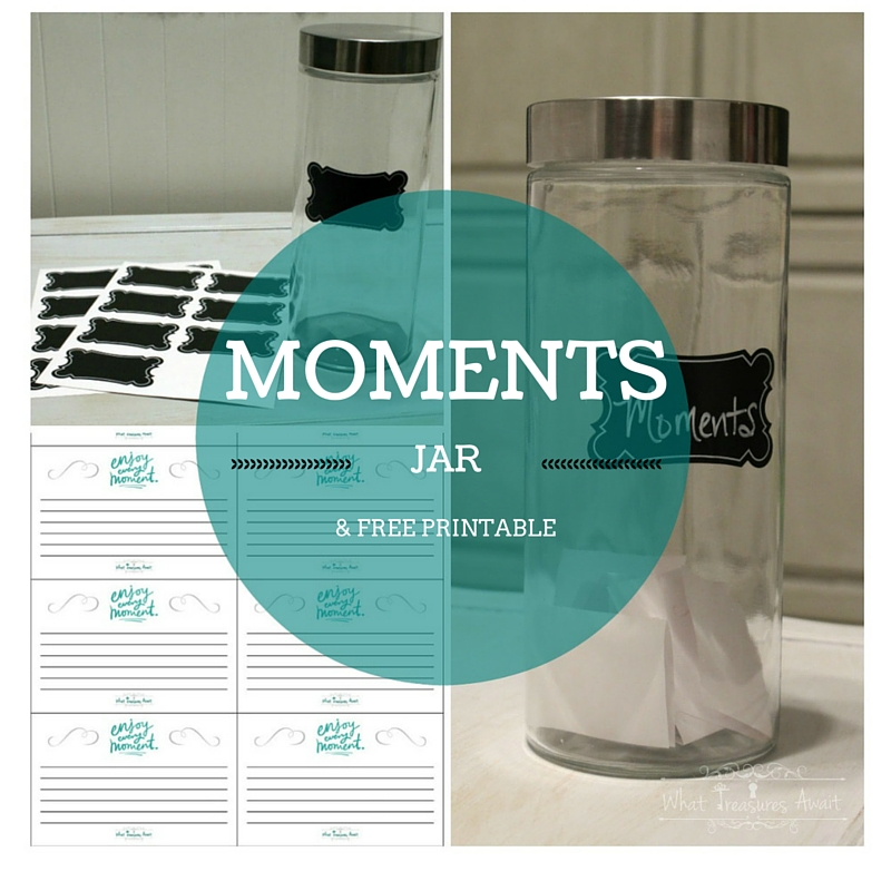 This moments jar will help you remember all of the great moments throughout the year!