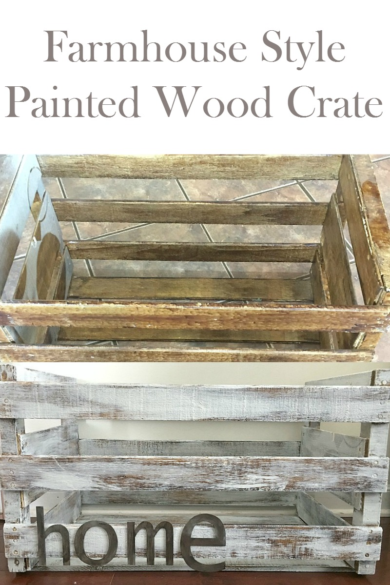 Stash your stuff in style with this farmhouse style decor painted wood crate. Pull off this trash to treasure transformation in an hour on your way to an organized home!