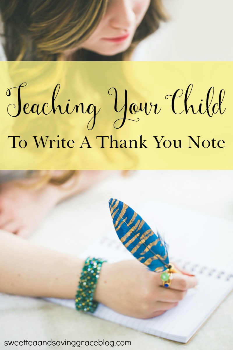 Teaching Your Child To Write A Thank You Note