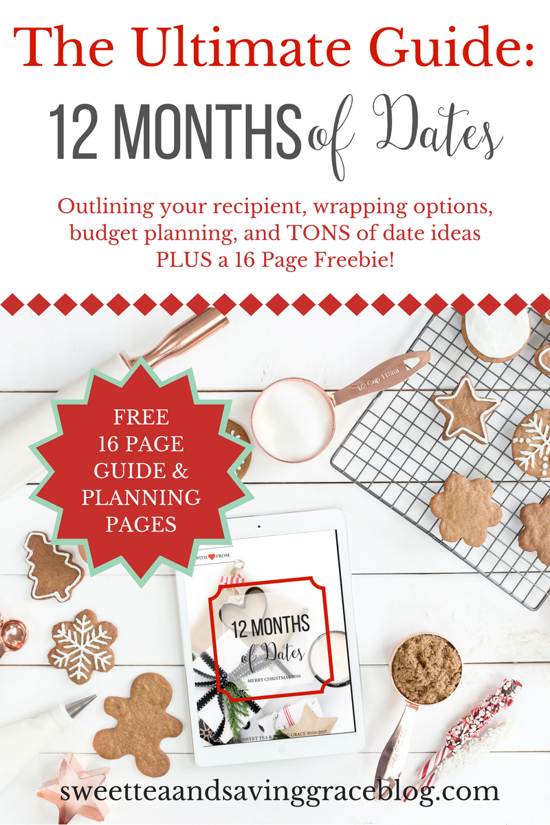 "Give the gift of quality time - 12 Months of Dates! Adapt these dates to your recipient - your spouse, parent, child, sibling, best friend. This ultimate guide to 12 Months of Dates includes tips for planning your budget, how to package your dates, and of course, date ideas. Plus, there's a FREE printable that includes over 60 date ideas, a monthly date page, and a ""Letter To My Love"" page - FREE!"