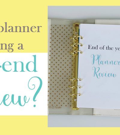 Is Your Planner Missing a Year End Review?
