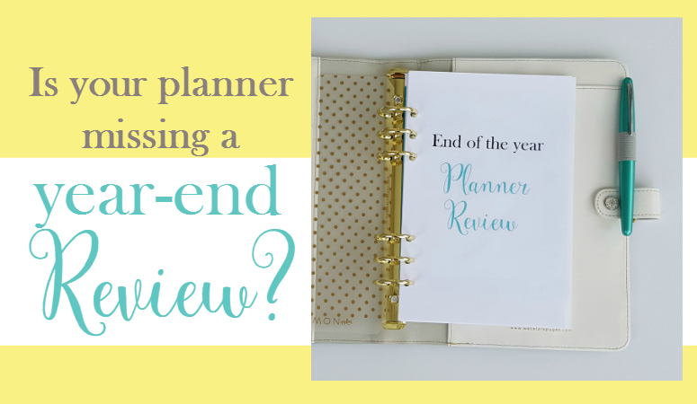 Ideas for reviewing the past year in your planner before making goals for the new year!