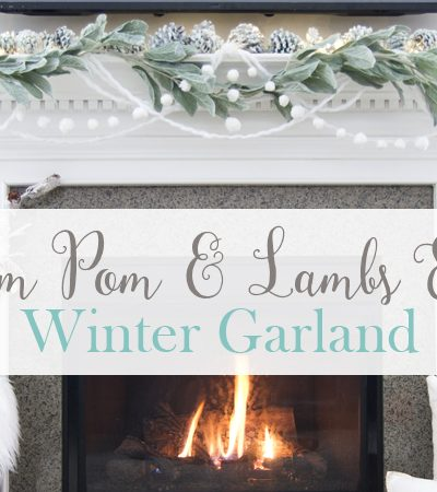 Pom Pom & Lambs Ear Winter Garland