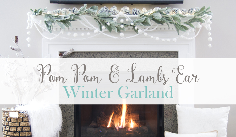 DIY Pom Pom Winter Garland