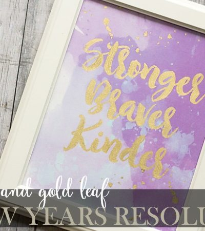Watercolor and Gold Leaf New Years Resolution Printables