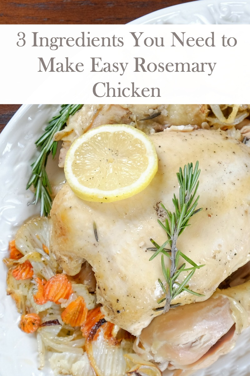 This recipe for Easy Rosemary Chicken requires 3 main ingredients that are used in everyday cooking. It's made in your slow cooker so you can have a quick and delicious meal any day of the week!