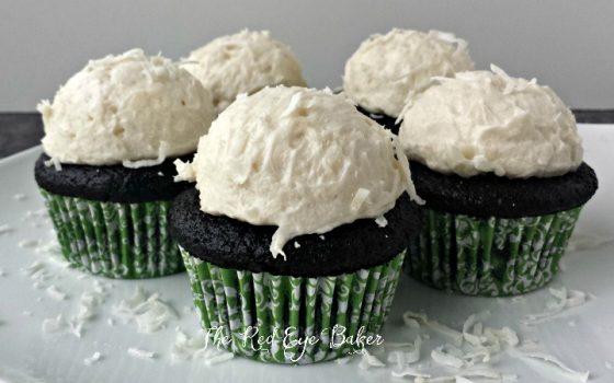 Dark Chocolate Coconut Cupcakes