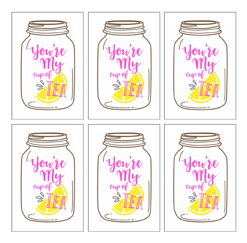 The perfect Valentine's gift for the tea lover in your life! Includes free printable tags!