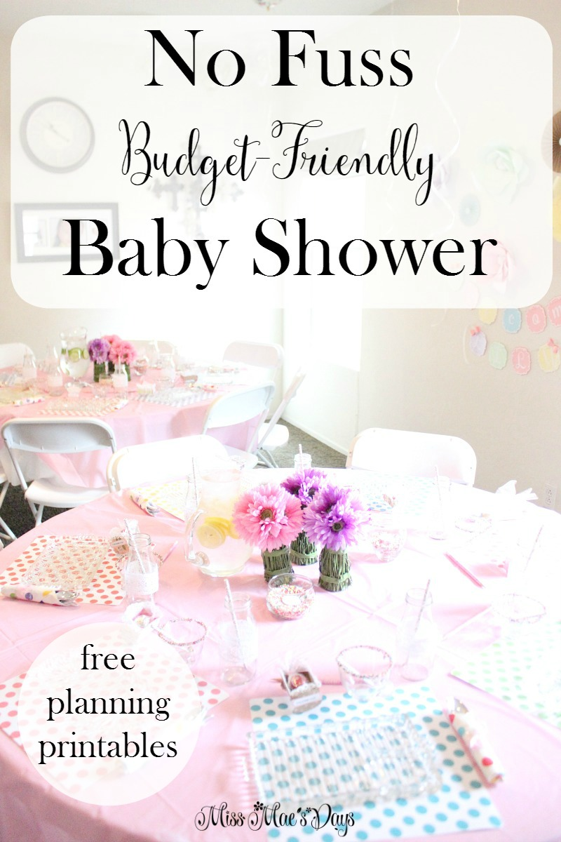 No Fuss Budget-Friendly Baby Shower with Free Baby Shower Planning Resource Pack