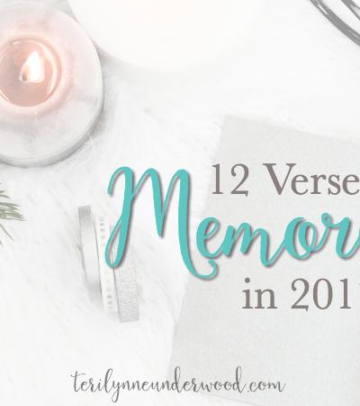 12 Verses to Memorize in 2017